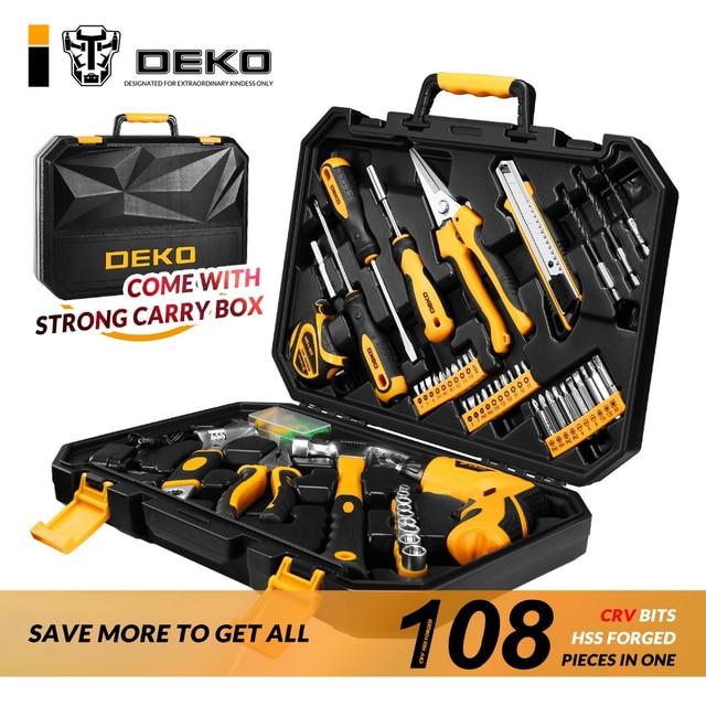 Tool Set Box Kit 108pcs Mechanics Automotive Bicycle Drill For Women