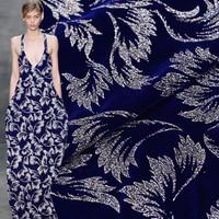 Gebronsde zijde fluweel zijde stof voor jurk verdikking jurk zijde fluwelen stof groothandel zijde doek