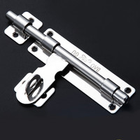 Stainless Steel Door Slide Lock Catch Security Latch Sliding Lock Home Gate Safety Hardware Door Bolts 4 size Optional