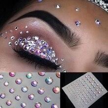 Jewel Eyes Sticker Tattoo Eyes Makeup Crystal Eyeliner Diamond Glitte Bridal Party Makeup Decoration Cosmetic