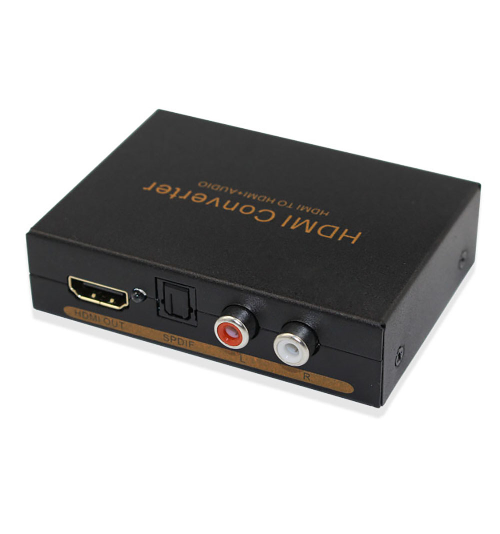 HDMI Audio Extractor Converter 5.1CH Audio Splitter 1080P Stereo Analog HDMI To HDMI Optical SPDIF RCA L/R Adapter Converters