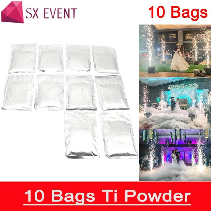 10 sacs/lot En Plein Air Froid Spark Sparkler Pyro Pyrotechnie Feux D'artifice Machine Métal Titane Poudre
