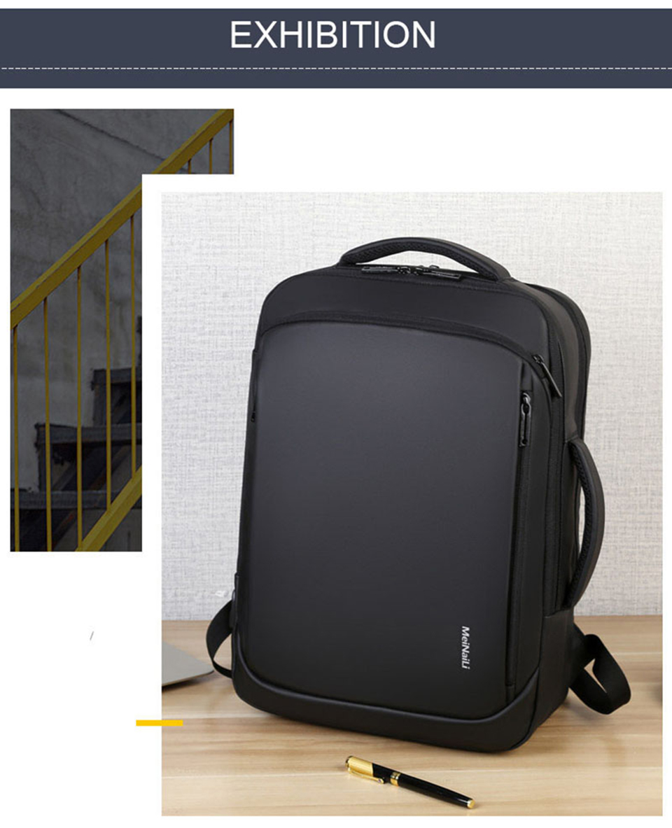 17 Inch Laptop Backpack 15.6 Mens Male Backpacks Business Notebook Mochila Waterproof Back Pack USB Charging Bags Travel Bagpack (14)
