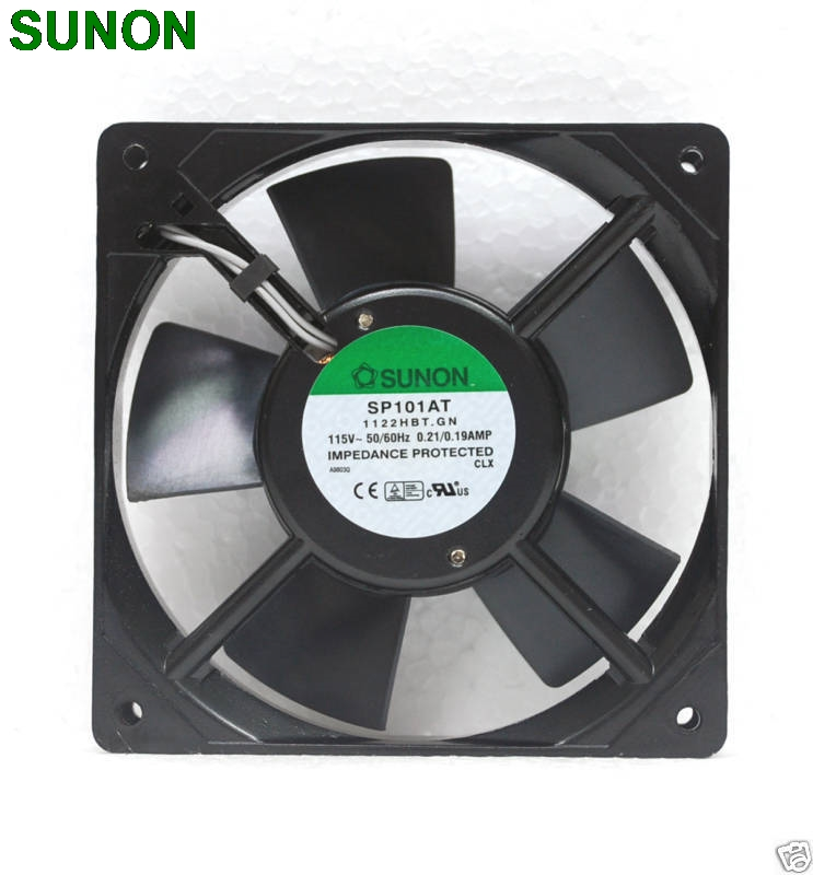 все цены на  Sunon SP101AT 1122HBT AC Fan 12CM 12025 1225 120x120x25mm 115VAC 0 2A cooling fan Axial Fan  онлайн