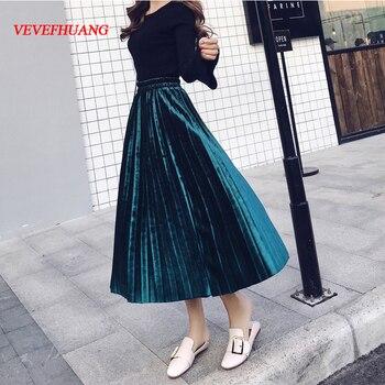 225f2292b Faldas para niñas 2019 verano algodón Floral botón hasta la rodilla tutú  azul Rosa flor ...