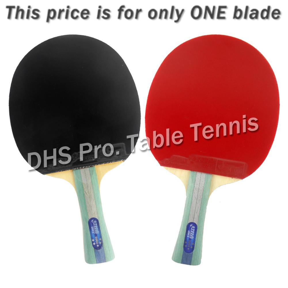 DHS 5002 Long Shakehand FL Table Tennis Ping Pong Racket + a Paddle Bag FL boer table tennis 1 star ping pong racket paddle