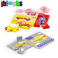 IBLOCKS 18M+ Children Cartoon Puzzle Set Fruit Vegetable Car Animal 4 style Jigsaw Board Plastic Learning Education Baby Toys