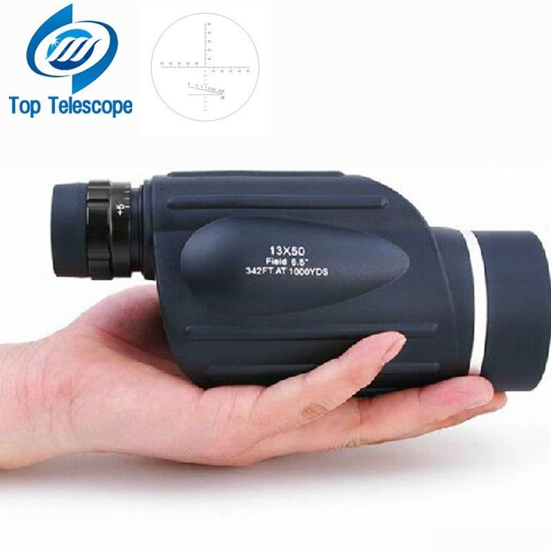 телескоп 13x50 бинокль с дальномер водонепроницаемый телескоп дальномер тип монокуляр открытый бинокли биноколь бинокль для охоты Монокуляр...