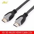 JSJ 4 К X 2 К 3D HDMI Тип Кабеля 2.0 версия Мужчинами 60FPS кабель для HD ЖК-ТЕЛЕВИЗОР ноутбук PS3 проектор компьютерный кабель