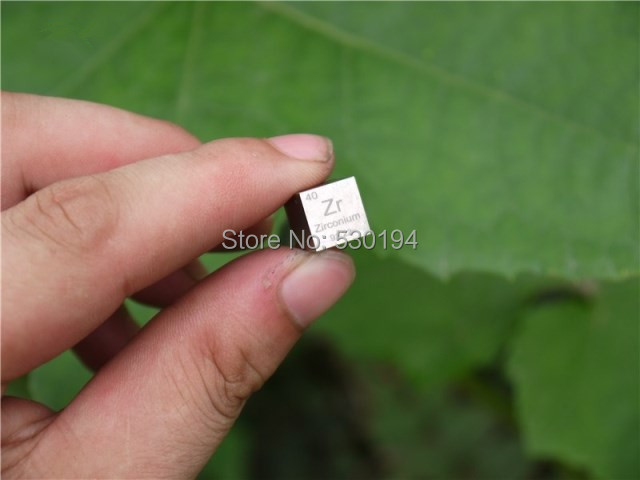 99.2% High Purity Zirconium Metal Zr 6.44g Carved Element Periodic Table 10mm Cube цена