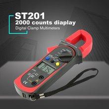 ST201 2000 отсчетов цифровой клещи цифровой амперметр AC/DC напряжение сопротивление тестера Диод Непрерывность тест удержания данных