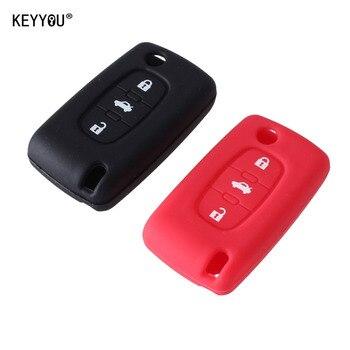 Cover in silicone telecomando/chiave per PEUGEOT 307 308 407 607