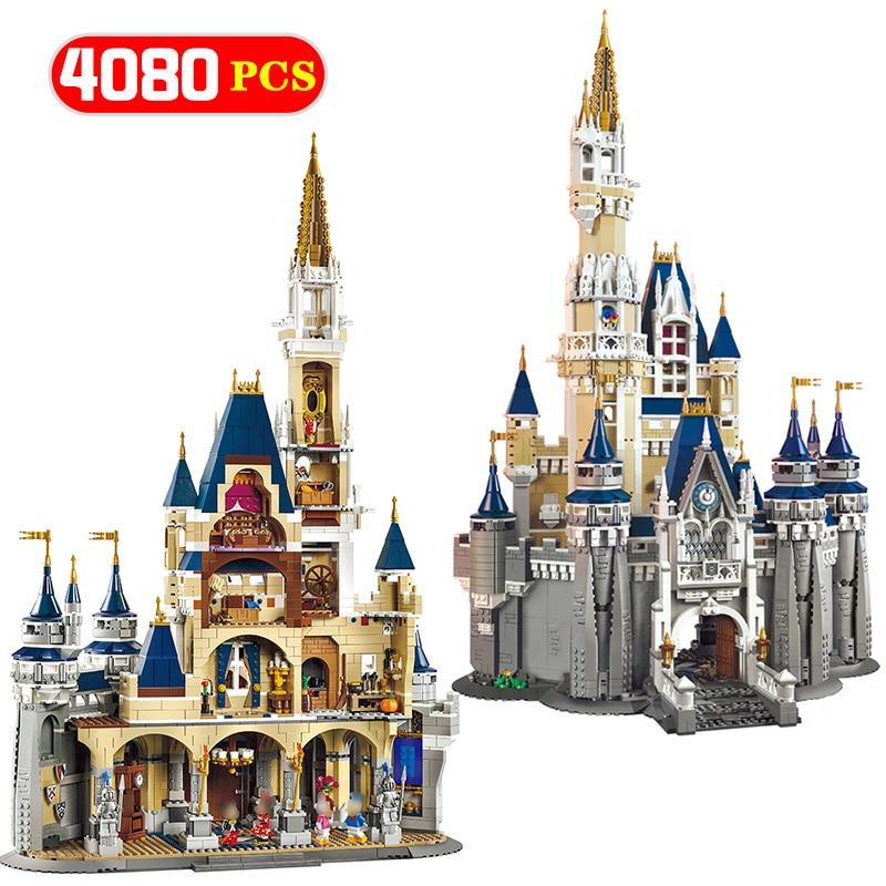 Создатель замок Золушка принцессы Модель Building Block Совместимость Legoing кино цифры развивающие кирпичи игрушечные лошадки для детей