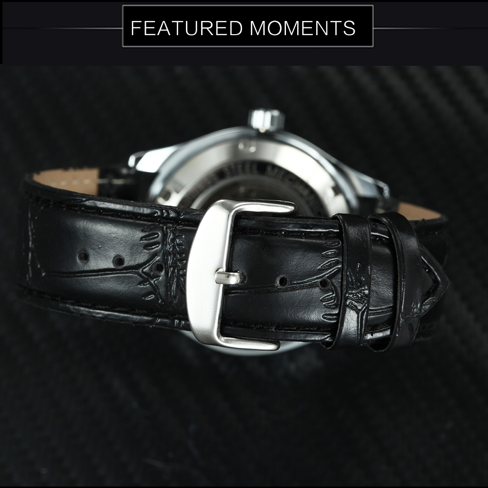 HTB1YiIPXfvsK1Rjy0Fiq6zwtXXaE Fashion Business Men Automatic Wrist Watches Leather Strap Male Mechanical Watches Calendar Date Clock montre homme +GIFT BOX