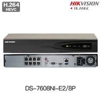 In Stock Hikvision DS 7608NI E2 8P Original English NVR P2P 8CH 8POE VGA HDMI H264