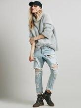 2016 новый летний мода бойфренд женский отверстия джинсы женские пят брюки сексуальные дамы брюки