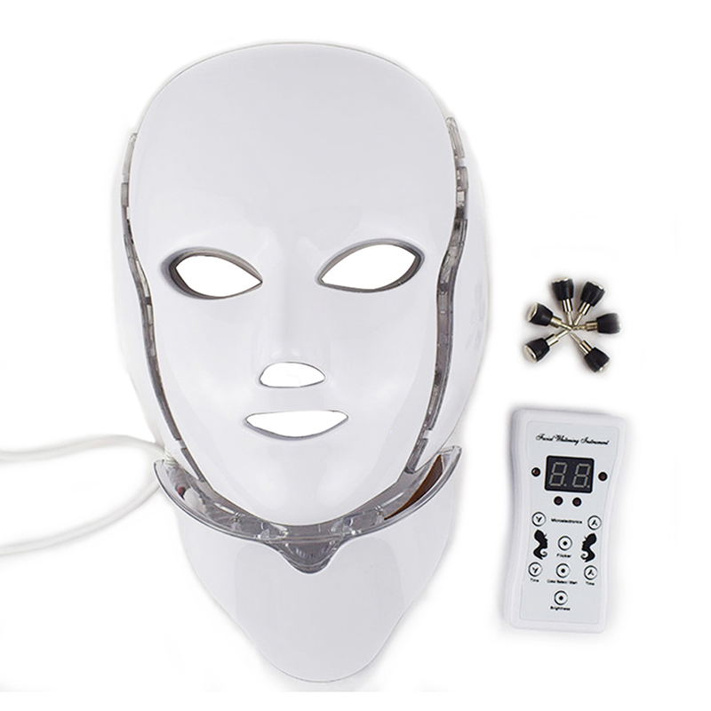 7 Colors LED Light Facial Mask With Neck Beauty Instrument Acne Treatment Face Whitening Skin Rejuvenation Red Led Light Therapy7 Colors LED Light Facial Mask With Neck Beauty Instrument Acne Treatment Face Whitening Skin Rejuvenation Red Led Light Therapy