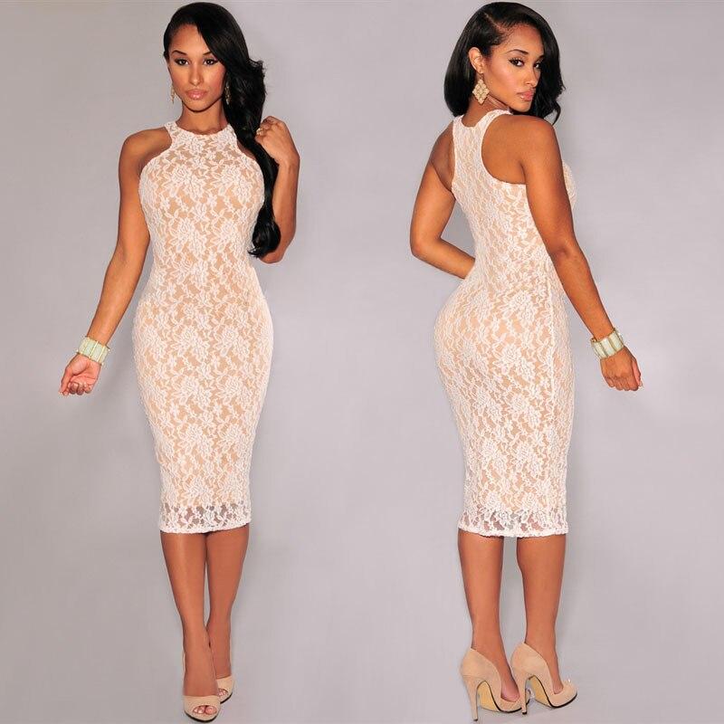Сексуальное кружевное платье с цветочным рисунком для Для женщин н - Цвет: White