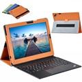 Couro de luxo da tampa do caso para lenovo thinkpad x1 tablet 12 polegada tablet inteligente awakening stand tampa flip + protetor de tela
