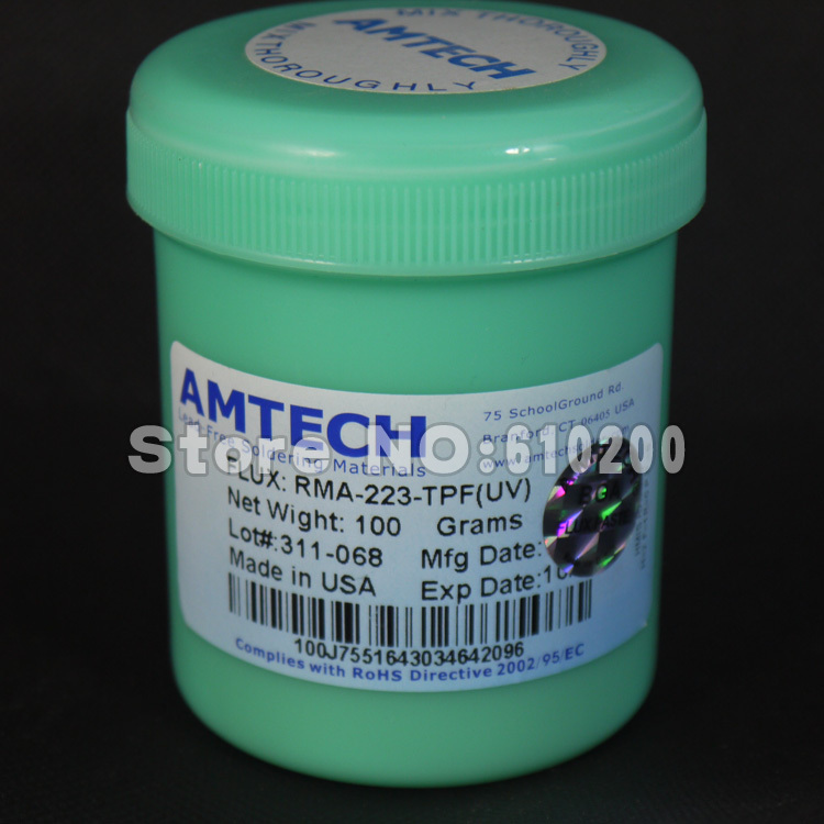 Free shipping AMTECH RMA-223-TPF-(UV) No-Clean Rosin BGA soldering Paste Solder Flux For phone PCB SMD BGA Rework craft 100g high quality amtech nc 559 asm uv tpf no clean pcb smd bga soldering paste solder lead free flux bga reballing soldering