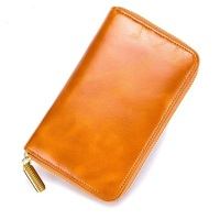 New RFID Genuine Leather Unisex Passport Cover ID Card Holder Wallet Credit Card Holder Travel Passport