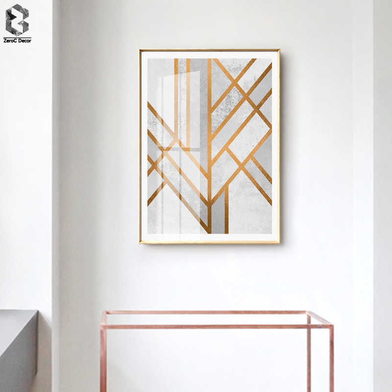 Nordic Geometric Line Posters and Prints Wall Art Canvas Painting Wall Pictures For Living Room Home Decoration