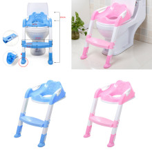 Kid Potty Toilet Trainer Seat Step Stool Ladder Children Portable Deer Toilet Ring Baby Outdoor Travel Potty Folding Chair cartoon baby boy girls folding toddler potty toilet trainer safety seat chair step with adjustable ladder training penico toilet