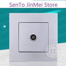 Television Socket Panel Wall 86 Type Closed Circuit Single Television TV Jack A Cable TV Socket Panel