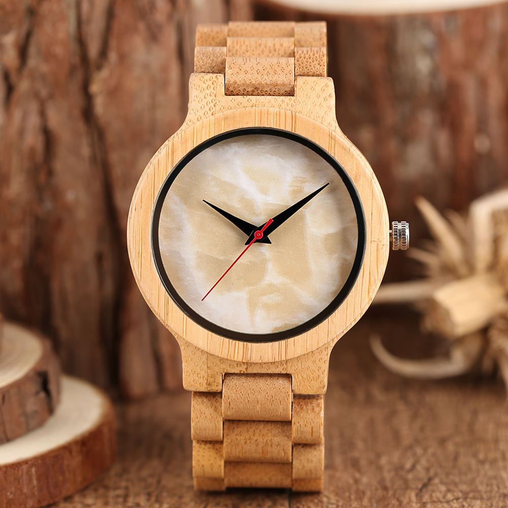 Luxury Full Bamboo Wood Bangle Mens Creative Wooden Wristwatch Men Fold Clasp Quartz Analog Watches Male Simple Fashion Gift handmade full bamboo wooden wrist watch beautiful woman simple timber quartz ladies watches nature wood fold clasp bangle clock