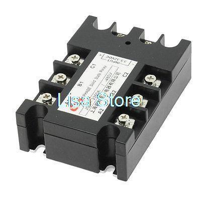 3.5-32VDC/480VAC 80A DC à AC 3 phases SSR relais à semi-conducteurs w indicateur lumineux