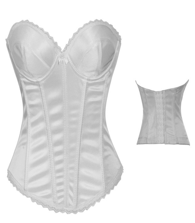 b9a825dac Fantasy Women Gothic Clothing Cotton White Wedding Push Up Bridal Corset  Bustier Crop Top Sexy Lingerie With Hooks And Eyes XXL-in Bustiers   Corsets  from ...