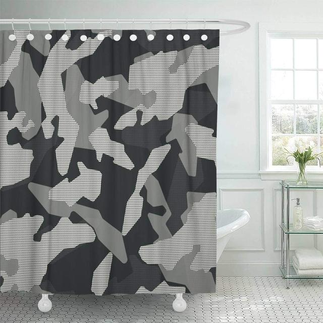 shower curtain with hooks green camo camouflage pattern abstract