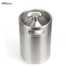 Growler ミニ樽ステンレス鋼樽 ミニビール樽ビールツール保持している オンスビール