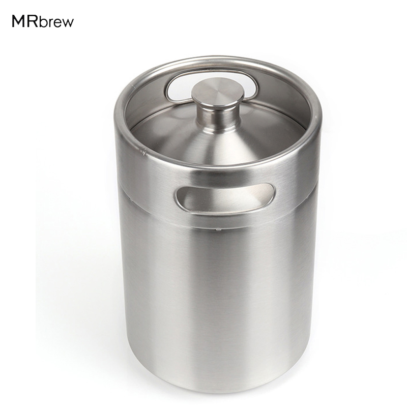 5L Homebrew Growler Mini Keg Barril de acero inoxidable 170 oz Cerveza Growler mini Beer Barrel Holds Beer Herramientas