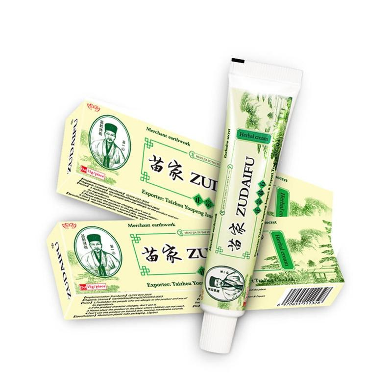 With Box Dropshipping Zudaifu Skin Psoriasis Cream Dermatitis Eczematoid Eczema Ointment Treatment Psoriasis Skin Care Cream image