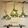 Люстра в современном минималистическом стиле для сада  бара  ресторана  железная  оригинальная  с растительным освещением  Скандинавская  о...