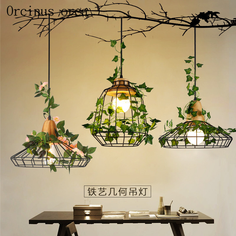 Modern minimalist Garden Bar Restaurant lamp chandelier iron creative personality plant lights Nordic window Chandelier modern bar restaurant table minimalist pendant lights nordic creative retro garden lamps lu812267