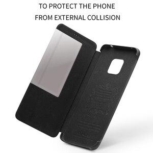 Image 5 - QIALINO דק אמיתי עור Flip Case עבור Huawei Mate 20 פרו יוקרה טלפון כיסוי עם תצוגה חכמה עבור huawei Mate 20 X