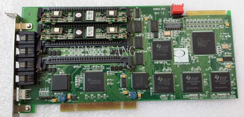 Free shipping D081A-PCI V2.3 D160A voice card with four modulesFree shipping D081A-PCI V2.3 D160A voice card with four modules