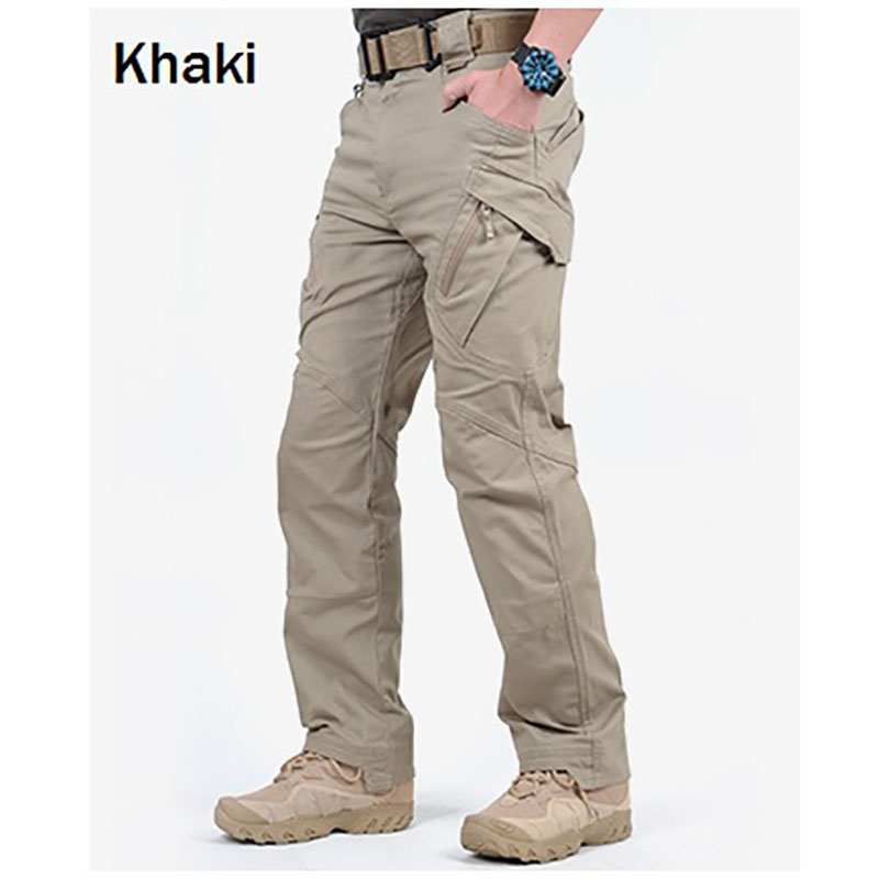 Young2 Men Stylish Cargo Pants Camo Multi-Pocket Mid Waist Print Trousers