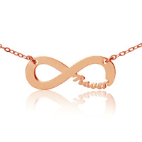 Personalized 925 Silver Name One Direction Style Infinity Necklac Rose Gold Infinity Symbol Nameplate Pendant Letters
