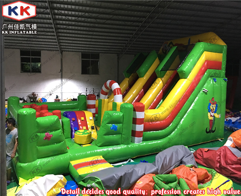 Giant Circus Clown Theme Inflatable Double Lane Slide with Climb haradhan mohajan importance of green marketing at present and future