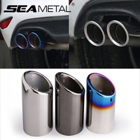 2pcs New Exhaust Pipe Car Covers Silence Muffer For Volkswagen JETTA Passat Scirocco Sagitar Golf 6
