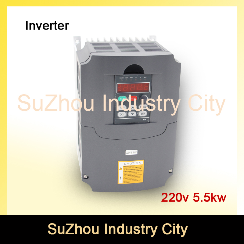 220v 5.5kw VFD Variable Frequency Drive VFD Inverter 3HP Input 3HP Output  CNC spindle motor Driver spindle motor speed control 2 2kw 380v vfd variable frequency drive vfd inverter 3hp input 3hp output cnc spindle motor driver speed control