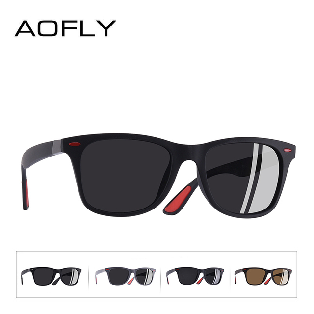 AOFLY BRAND DESIGN New 2018 Classic Polarized Sunglasses Men Driving TR90 Frame Sun Glasses Male Goggles UV400 Gafas AF8083 3
