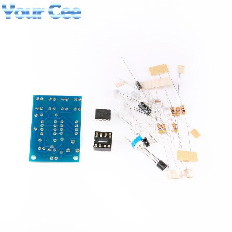 5 pcs Blue Led 5MM Light LM358 Breathing Lamp Parts Kit Electronics DIY Interesting Product Suite Design