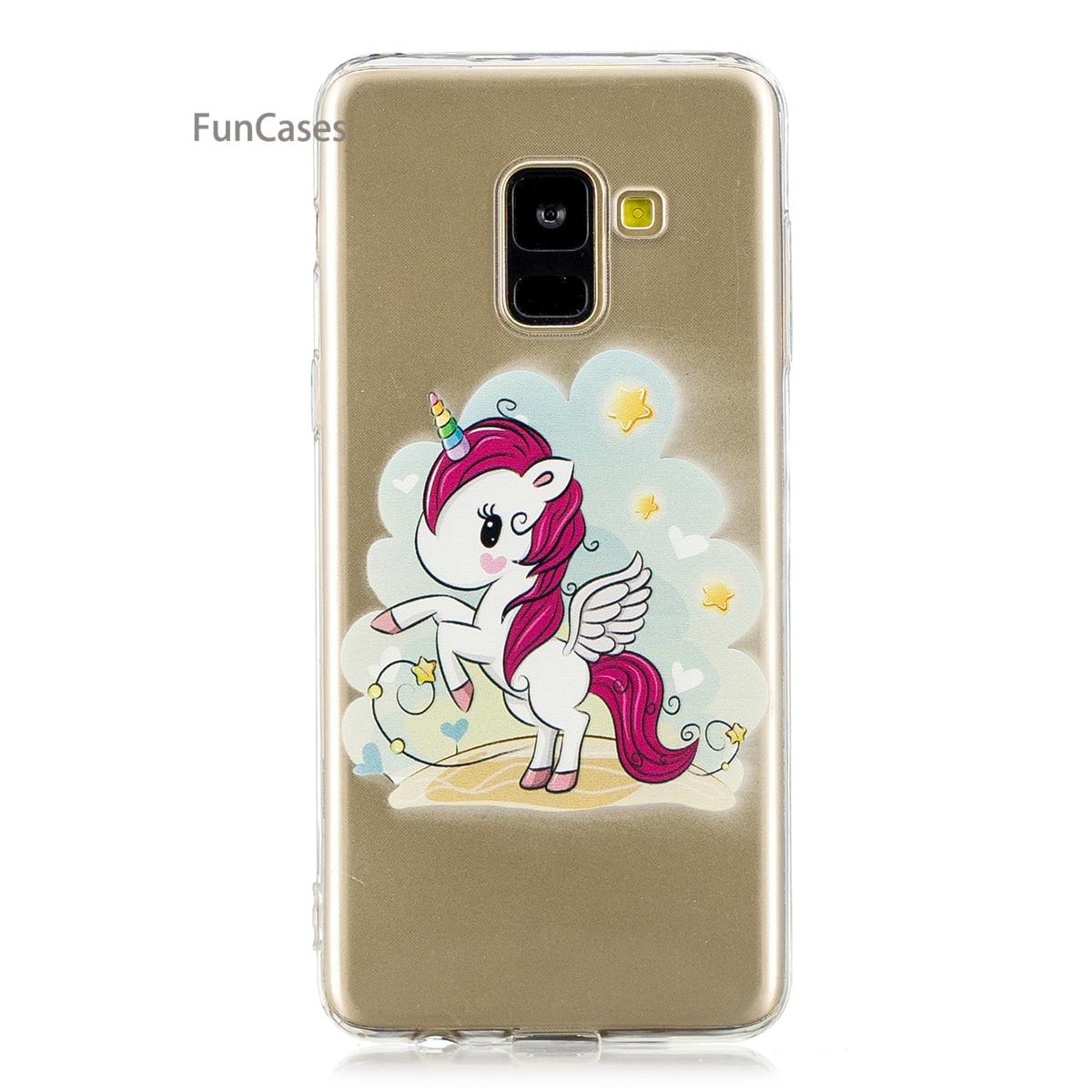 Purple Butterfly Phone Case sFor Coverage Samsung A8 2018 Soft Silicone Phone Case Caso Unicorn Phone Case Samsung Galaxy A530