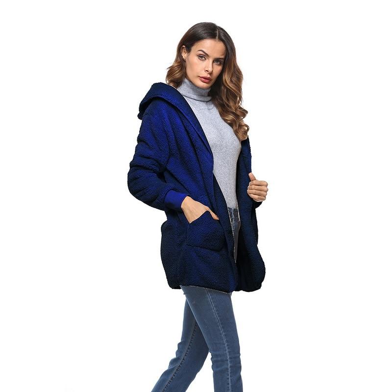 HTB1YiL6XfvsK1Rjy0Fiq6zwtXXat S-5XL Faux Fur Teddy Bear Coat Jacket Women Fashion Open Stitch Winter Hooded Coat Female Long Sleeve Fuzzy Jacket 2018 Hot New