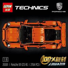 New LEPIN 20001 2704Pcs Technic Series 911 GT3 RS Race Car Model Building Kits Blocks Bricks Toy Gift 42056 sports car boy