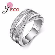 Luxury Bling Zirconia แหวน 925 (China)